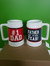 2 Giant coffee mugs  father of the year and # 1 dad