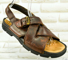 TIMBERLAN Brown Leather Mens Casual Sandals Summer Shoes Size 8.5 UK 43 EU