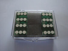 DICE 4 PACK GREEN NEAR PRECISION 19MM CASINO MAGIC TRICKS CLOSE UP GAMES NOVELTY