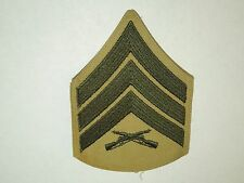 Military US Sergeant E-5 Sgt Chevron Sewing Patch- Khaki and Green