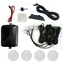 WHITE Car Reverse Parking 4 Sensor Security Led Display With Buzzer & Display