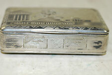 Russian niello silver (84) matchbox, ST. George mark, mid 19th century
