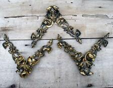 Antique Vintage Baroque Gilded Ormolu Style Metal Frame Fittings Salvage Detail