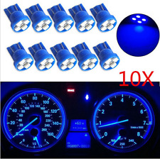 10PCS 4-SMD LED T10 Wedge Blue Dashboard Light W5W 194 2825 Gauge Cluster Bulbs