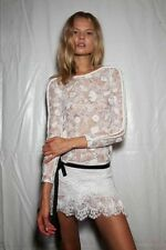 Rare ISABEL MARANT ivory off white Lace mini skirt 40 US 8 10