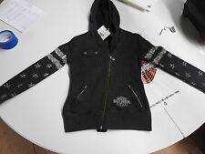 LGHD 96313-16VW/002S Harley-Davidson® Women's Distressed Biker Zippered Hoodie