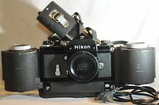 Nikon F Black Nippon Kogaku 65 F-250 back F250 Motor Drive set 99 RARE WORKING