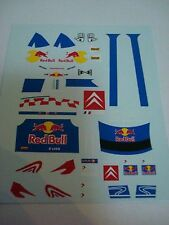 DECALS 1/18 KIT SEBASTIAN LOEB RALLY WORLD CHAMPION 2009 CITROEN FIGURINE FIGURE