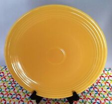 """Vintage Fiestaware Yellow 13"""" Chop Plate - Fiesta HLC Charger Plate"""
