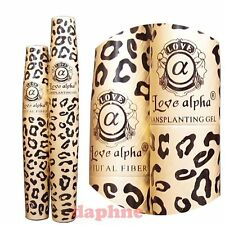 3D Fiber Lashes - 2 Sets 4 tubes Love Alpha LA729 Gel & Fiber Mascara Set