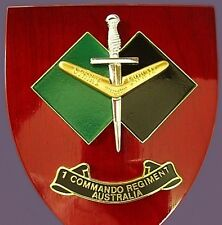 MINT AUSTRALIAN ARMY 1 COMMANDO COMPANY SPECIAL FORCES ELITE UNIT WALL PLAQUE