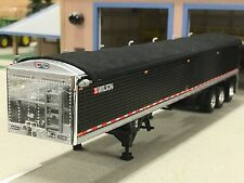 1/64 DCP BLACK WILSON TRI-AXLE GRAIN TRAILER W/ Dual Tires w/Sm Lift Single Rear