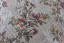 "French Antique c1910-20 Woven Jacquard Tapestry Home Dec Floral Fabric~28""LX48""W"