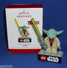 Hallmark Christmas Ornament LEGO Star Wars Yoda 2013 Lightsaber NIB Free Ship