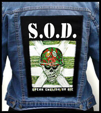 S.O.D. / Stormtroopers of Death/ --- Giant Backpatch Back Patch /  D.R.I. M.O.D.