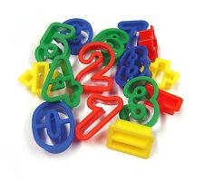 15 in plastica giocare pasta formine per biscotti numeri & FORME SIMBOLI MATEMATICA MB 9003-15