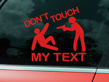 DONT TOUCH MY TRUCK AUFKLEBER - WUNSCHTEXT LKW BOARD LAPTOP QUAD STICKER GIRL