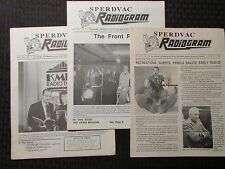 1990 RADIOGRAM Sperdvac Radio Newsletter Fanzine LOT of 3 VG/VG+ Mar Oct Nov/Dec