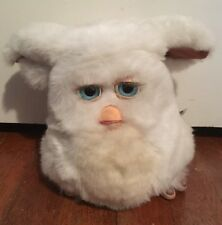 Tiger Hasbro 2005 Furby White W/ Tan Belly & Blue Eyes Tested & Working