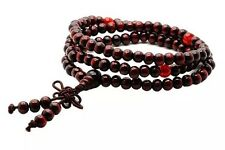 Tibetan Sandalwood Buddhist Prayer Beads Bracelet Brown 108 Piece US Seller