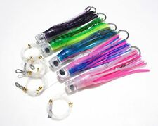 """5x 8.5"""" Rigged Trolling Skirt Fishing Lure for Big Game Marlin Tuna with SS Hook"""
