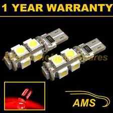 2X W5W T10 501 CANBUS ERROR FREE XENON RED 9 LED TAIL REAR LIGHT BULBS TL101701
