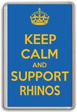 KEEP CALM AND SUPPORT RHINOS LEEDS RHINOS RUGBY LEAGUE TEAM Fridge Magnet