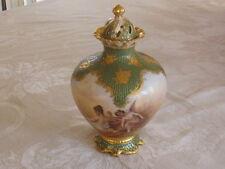 Antique Royal Vienna Allegorical Vase HAND PAINTED ANGELS SIGNED WAGNER!