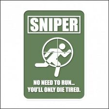ARMY SNIPER TACTICAL PATCH - NEW - VELCRO