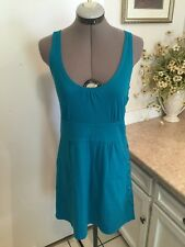 MARC By MARC JACOBS Turquoise Woven Knit Sleeveless Dress size S  EUC