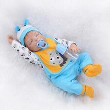 Realistic 22''Lifelike Reborn Doll Boy Handmade Baby Pacifier Full Body Silicone