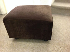 Footstool / Small Stool / Pouffe / Gift / Present / Brown Velvet British Made