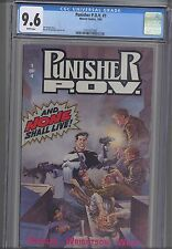 Punisher P.O.V. #1 CGC 9.6 Marvel 1991: Bernie Wrightson Cover:  NEW CGC Frame