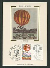 FRANCE MK BALLON BALLOON MONTGOLFIERE MAXIMUMKARTE MAXIMUM CARD MC CM d2141