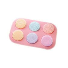 Round Mooncake Chocolate Lotion Bars Soap Making Supplies Silicone Mold 6-Cavity