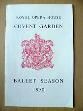 Ballet Programme 1950- LES PATINEURS & GISELLE~David L. Webster