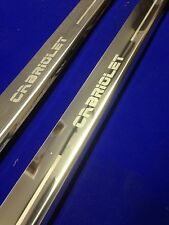 ESCORT CABRIOLET DOOR SILLS PAIR STAINLESS SCUFF PLATES ETCHED LOGO INC FIXING