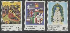 AUSTRALIA SG721/3 1979 CHRISTMAS MNH