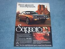 "1979 Plymouth Sapporo Vintage Ad ""Sheer Pleasure from Plymouth"""