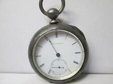 Antique American Waltham Coin Silver Non-Running Large Pocket Watch L72