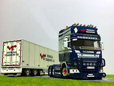 "WSI TRUCK MODELS SCANIA R STREAMLINE TOPLINE SEMI BOX TRAILER""HAUGE TRANSPORT"""