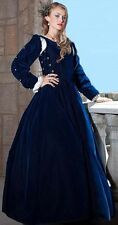 NOBLE RENAISSANCE DRESS COSTUME DICKENS S-PLUS navy RC Any size available Velvet