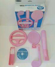 Wii Sports plus pink accessory pack for girls -bowling tennis golf etc + wheel