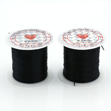 2xRoll 1MM Waxed Strong Elastic Beading Thread Cord Bracelet String For Jewelry