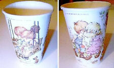 SARAH KAY 70s Germany lot 2 paper glass cups - bicchieri di carta perfetti 2 pz