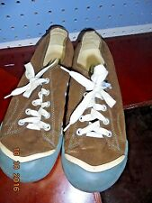 Women's Keen Coronado Canvas Lace Up Sneaker Brown Blue Size 7