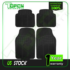 Floor Mats All Weather Rubber 4pc Set Semi Custom for Toyota Tacoma 4x4 2005-15