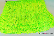 "1  yard 6"" Shiny Lime Green Chainette Fringe Dance Costume Trim"