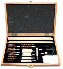 GUN CLEANING KIT Air Rifle Pistol Airgun Rimfire 177 22 Rods Brushes Plus Case