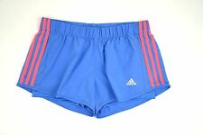 ADIDAS Women's Performance CLIMALITE Woven 3-Stripes Lined Running Shorts Medium